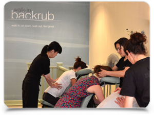 Onsite Office massage practitioners